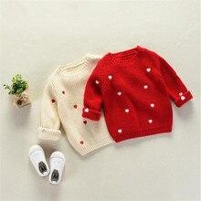 Детский свитер для маленьких девочек, толстый хлопковый свитер для маленьких и средних размеров, Свитера для девочек