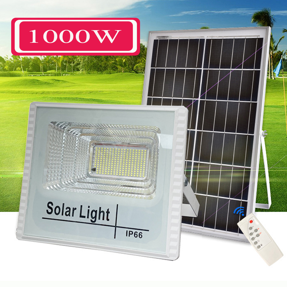 1000 watts led Solar Light Outdoor Solar Lamp  Powered Sunlight Waterproof Solar garden lamp  Street Light for Garden Decoration