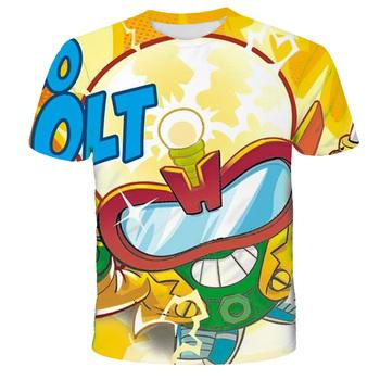 Chłopcy Super Zings Sonic drukuj ubrania dla dzieci 3D śmieszne koszulki dla dzieci Superzings odzież chłopcy graficzne koszulki Anime wśród Eboy tanie i dobre opinie POLIESTER CN (pochodzenie) CZTERY PORY ROKU 4-6y 7-12y 12 + y Damsko-męskie Na co dzień W stylu rysunkowym REGULAR Z okrągłym kołnierzykiem