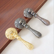 Drop Pull Knobs Chic Drawer Dresser Pulls Handles Bronze Copper Gold Unique Cabinet Furniture Hardware