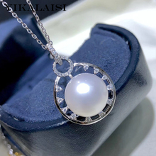 YIKALAISI 925 Sterling Silver Jewelry Pearl Pendants 2019 Fine Natural Pearl jewelry 11-12mm Pendants For Women wholesale