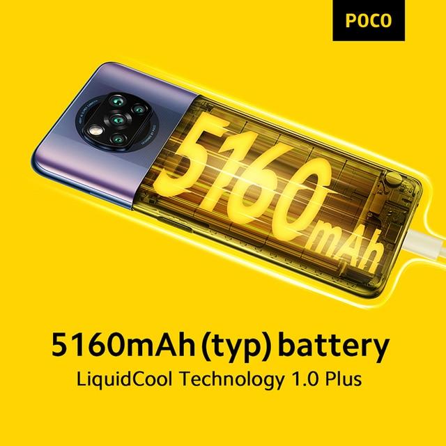 Global Version In Stock POCO X3 Pro Snapdragon 860 Smartphone 6+128GB 120Hz DotDisplay 33W Charging 5160mAh Quad AI Camera 4