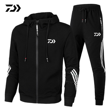 Daiwa Fishing Clothing Spring Autumn 2020 Fishing Suit Cotton Outdoor Camping Hiking Sport Set Striped Clothes Fishing Suits