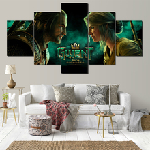 Game Wizard 5 Panel HD Print Canvas Painting Template Living Room Bedroom Decoration Free Shipping