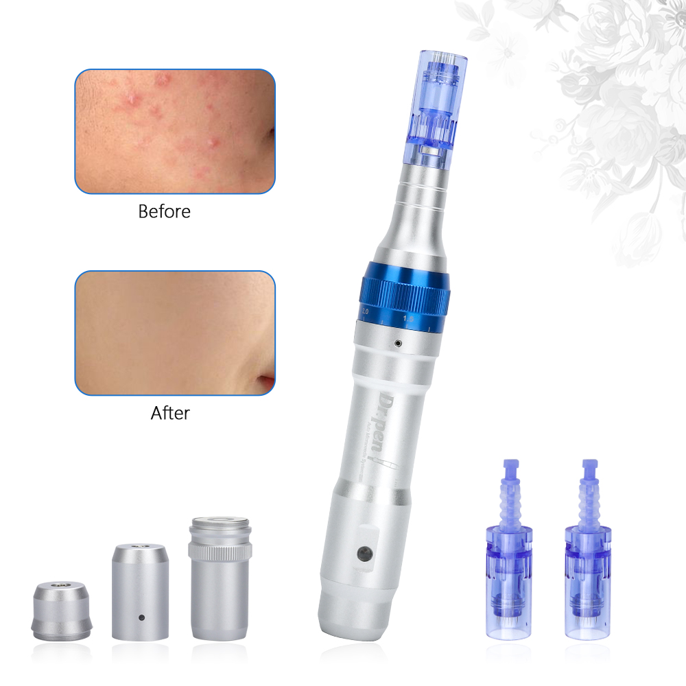 Dr.pen A6 Electric Derma Pen Micro Needles Rolling With 12Pin Needles Shrink Pores Wrinkle Remove Eyebrows Eyeliner Lips Tattoo