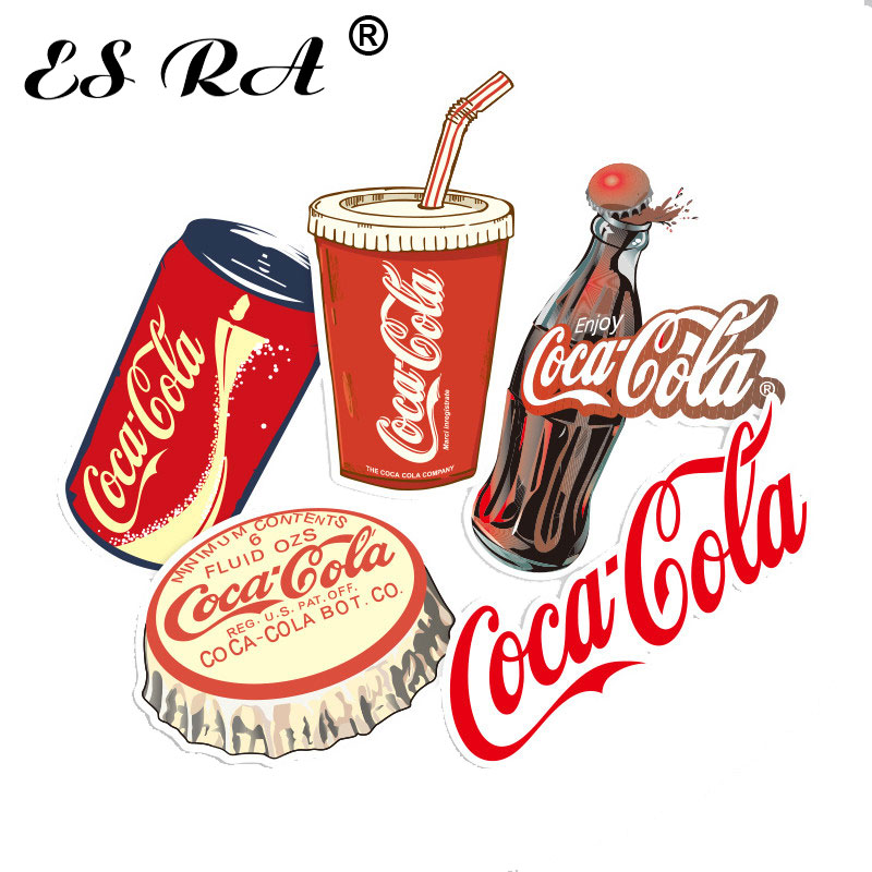 5 Pcs/Set 3~8cm Coca Waterproof PVC Stickers Sets Cola Funny Sticker Laptop Pitcher Bottle Luggage Notebook Sticker For Children