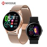 Smart Watch DT88 Round Screen Heart Rate Blood Pressure Intelligent Fitness Tracker Smartwatch IP68 Waterproof Sports Band Women