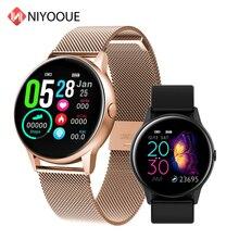 Smart Watch DT88 schermo tondo frequenza cardiaca pressione sanguigna Tracker Fitness intelligente Smartwatch IP68 cinturino sportivo impermeabile donna