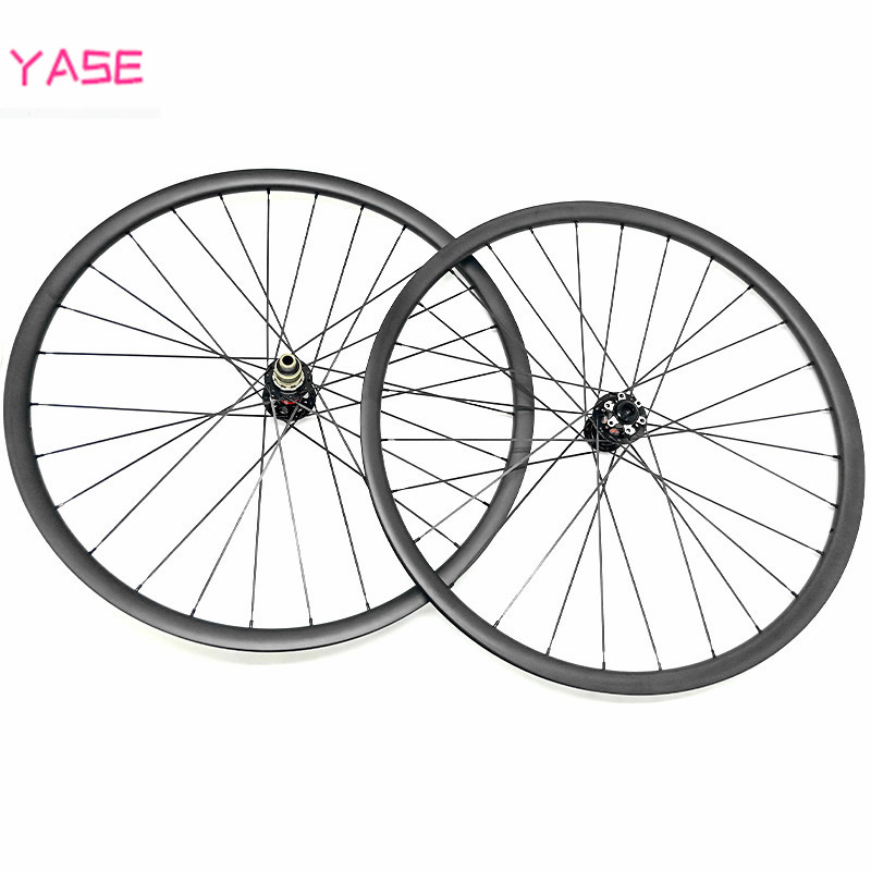 27.5er carbon mtb wheelset 35x25mm tubeless bike wheel asymmetry boost NOVATEC D791SB D792SB 110x15 148x12 bike disc wheels