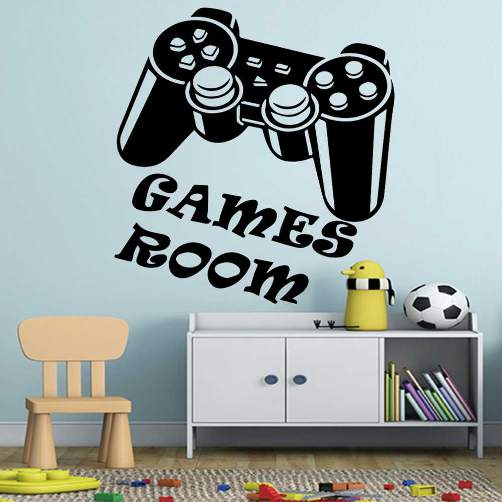 Game Wall Decal Poster Lettering Wall Stickers Murals for Bedroom Playroom Decor