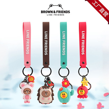 Line friends New Year Keychain Mouse Hedgehog Cactus Octopus Small Pendant Cute Cartoon Backpack-in Schlüsseletui für Auto aus Kraftfahrzeuge und Motorräder bei