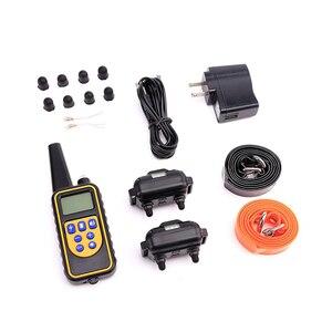 Image 5 - Collar eléctrico de choque del perro del sistema de cercado de las mascotas con Control remoto eléctrico impermeable para el dispositivo grande del Entrenamiento de mascotas del perro 5
