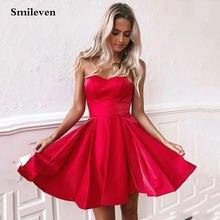Сексуальные красные короткие платья smileven для выпускного