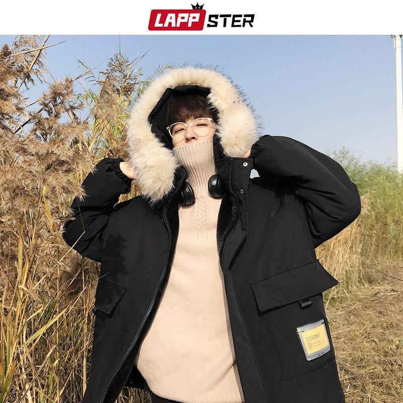 Mens Winter Thicken Down Jacket Korean Fashion Oversized Warm Puffer Parka Coats