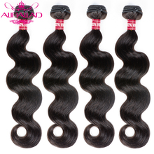 Aliballad Brasilianische Haarwebart Bundles Körper Welle Haar 4 teile/los Remy Haar Extensions Natürliche Farbe 100% Menschliches Haar Weben