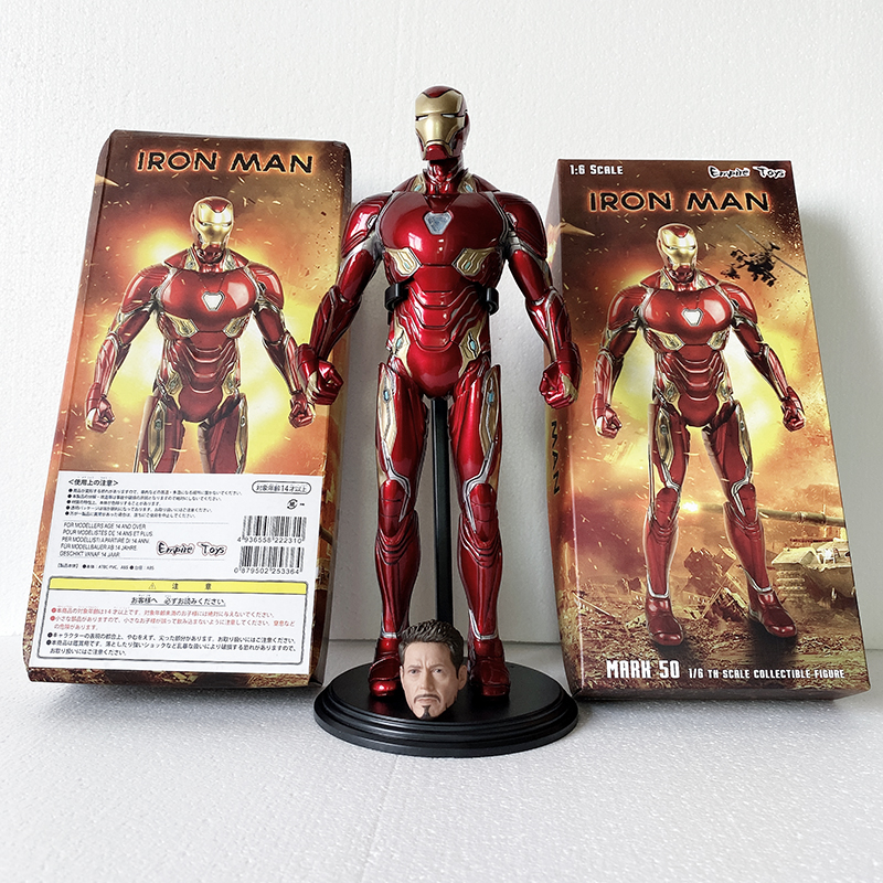 30cm Two Head Iron Man MK50 Action Figure Tony Stark Iron Man Mark50 PVC Action Figure Toy Gift For Christmas