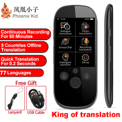 Boeleo Translation AI Smart Voice K1 Pro Photo 77 Languages Real-time Face-to-Face WIFI 2.4TFT 12MP Multi-function Translator