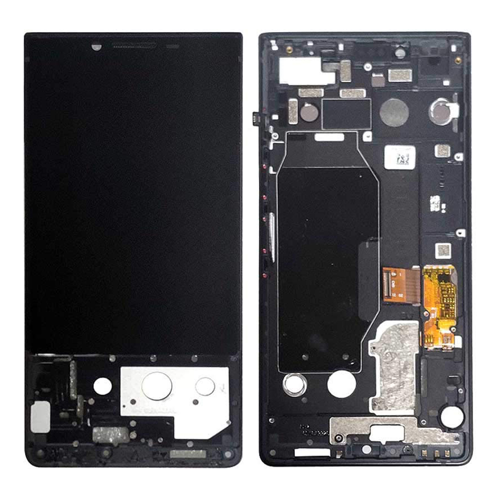 For BlackBerry Key2 LCD Display Touch Screen Digitizer Assembly With Frame Black Silver LCD Screen For Blackberry Key 2 Key Two