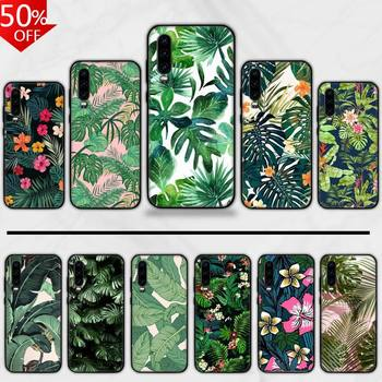 Retro Flower Banana Leaf Phone Case For Huawei Honor Mate P 9 10 20 30 40 Pro 10i 7 8 A X Lite Nova 5t image