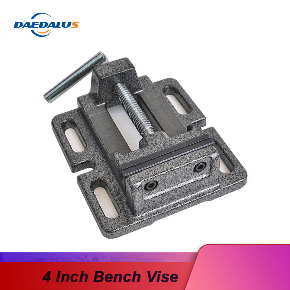 "4/"" Drill Press Vise Home Carpenter Woodworking Wood Plastic Drilling Holder Tool"