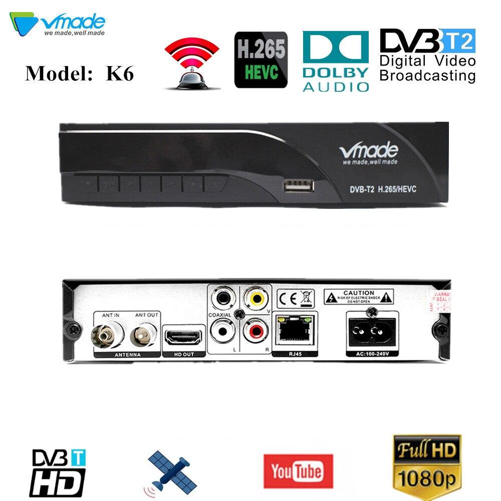 Récepteur de Signal de TV entièrement pour DVB-T numérique terrestre DVB T2 H.264 DVB T2 minuterie sans prise en charge pour Dolby AC3 PVR livraison directe