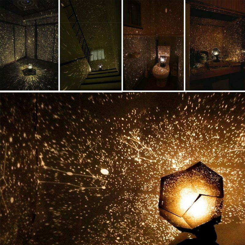 Starry Sky Projector Light LED Home Planetarium Lamp Star Projection Romantic Lamp Bedroom Decoration Ambient Light Holiday Gift