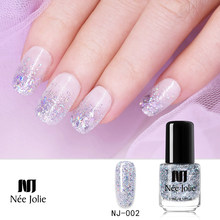 Nee Jolie 73 Warna Cat Kuku Emas Berkilau Payet Nail Art Pernis Warna Cat Kuku DIY Nail Art Lacquer 3.5 Ml(China)