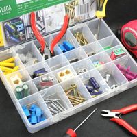 15 Grid Slot Plastic Jewelry Adjustable Box Case Organizer Craft Storage Beads x