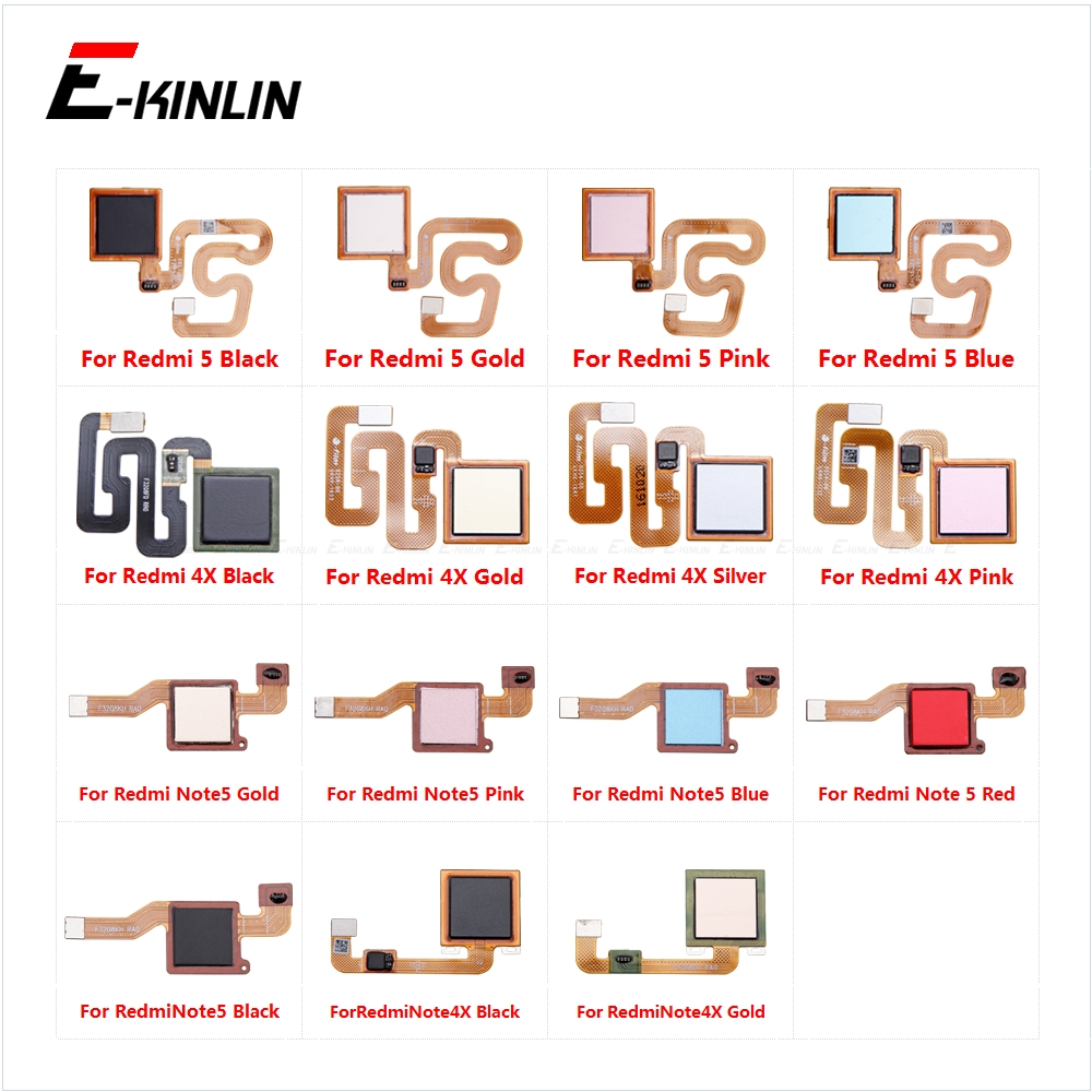 Touch ID Fingerprint Sensor Scanner Flex Cable For Xiaomi Redmi Note 5 Note 4X Back Home Return Button Key Replace Parts
