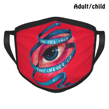The Eyes Chico Pm2.5 Anti Dust DIY Reusable Face Mask Quotes Scarface Al Pacino Tony Montana Eyes Look Framed Art Red Blue image