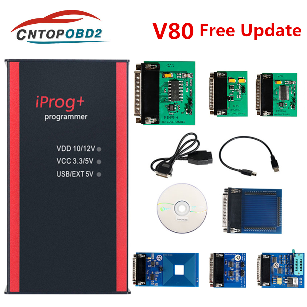 Iprog Pro Key Programmer V80 Updated Iprog+ Support IMMO Mileage Correction Airbag Reset Replace Carprog Digiprog Tango Full