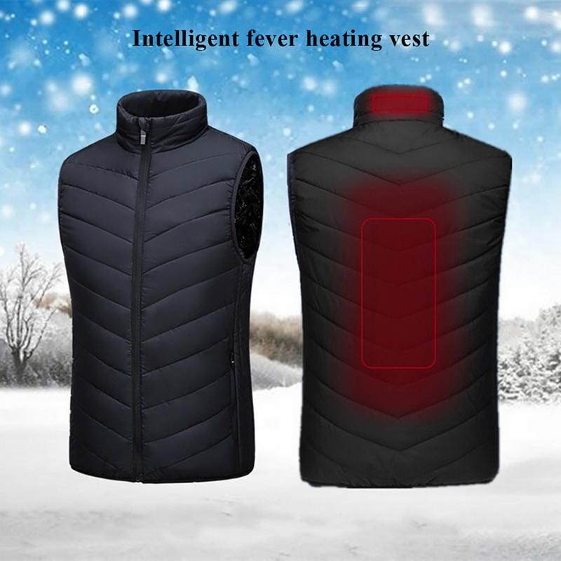 Jaqueta aquecida moda masculina mulher casaco inteligente