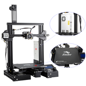 Image 4 - CREALITY 3D Printer Ender 3 PRO Upgraded Magetic Build Plate Resume Power Failure Printing Masks KIT MeanWell Power Supply