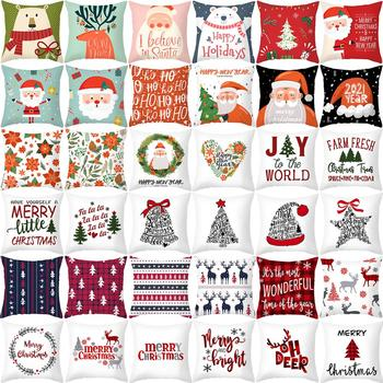 Luanqi Christmas Ornaments Cushion Cover Xmas Gift Pillow Case Merry Christmas Decorations For Home Noel 2020 Natal New Year merry christmas decorations for home christmas 2020 ornaments navidad noel xmas natal deco new year 2021 gift kerst decoratie