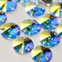 YANRUO 3200 Rivoil de calidad superior AAAAA Coser-en Rivoli round de cristal de coser en diamantes de imitación piedras para ropa vestidos