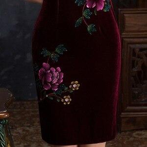 Image 5 - Quinceanera 볼 가운 봄 새로운 네일 구슬 손으로 그린 짧은 Cheongsam 슬리브 일일 패션 하이 엔드 개선 슬림 원래