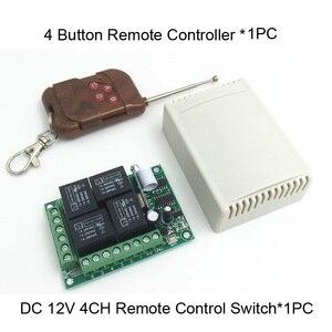 Image 5 - Универсальный беспроводной пульт дистанционного управления, 433 мгц, 12 в постоянного тока, 4 канальный релейный модуль приемника, RF 4 кнопочный светильник, ворота, дистанционное управление гаражом