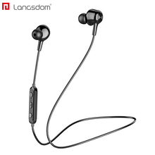 Langsdom L17 Wireless Headphone Bluetooth 5.0 Earphone for Phone iPhone Headset Magnet Earbud With Mic Stereo Bluetooth Earpiece