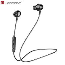 Langsdom L17 auriculares inalámbricos Bluetooth 5,0 auriculares para teléfono iPhone auriculares imán auricular con micrófono estéreo auricular Bluetooth