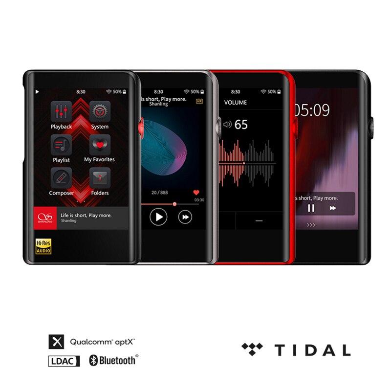 Equilibrada de Alta Shanling Lossless Música Carro Mp3 Player Bluetooth Saída Fidelidade Qualidade Som Portátil M2x