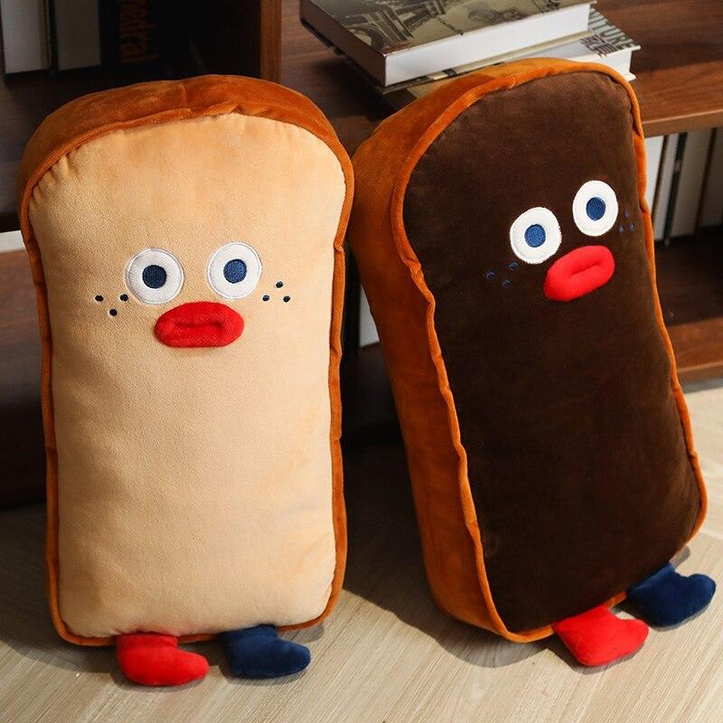 65cm engracado bonito fatia torradas pao travesseiro de pelucia brinquedos macio recheado dos desenhos animados comida