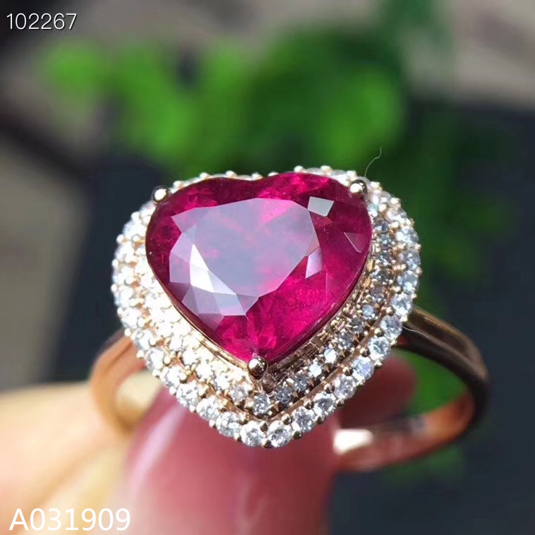 KJJEAXCMY Boutique Jewelry 925 Sterling Silver Inlaid Natural Ruby Ring Female Support Detection Exquisite