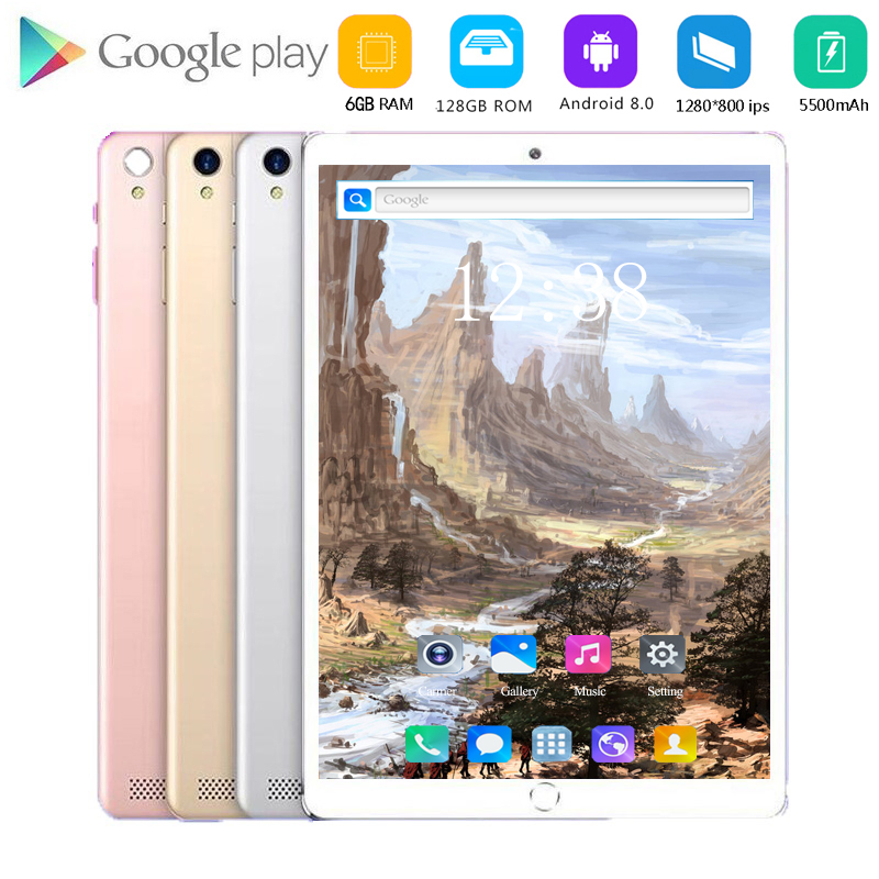10.1 Inch Tablet PC 4G Lte Phone Octa Core Google Play Kids Tablette Enfant 8GB RAM 128GB ROM WiFi GPS Tablet Android 9.0 10