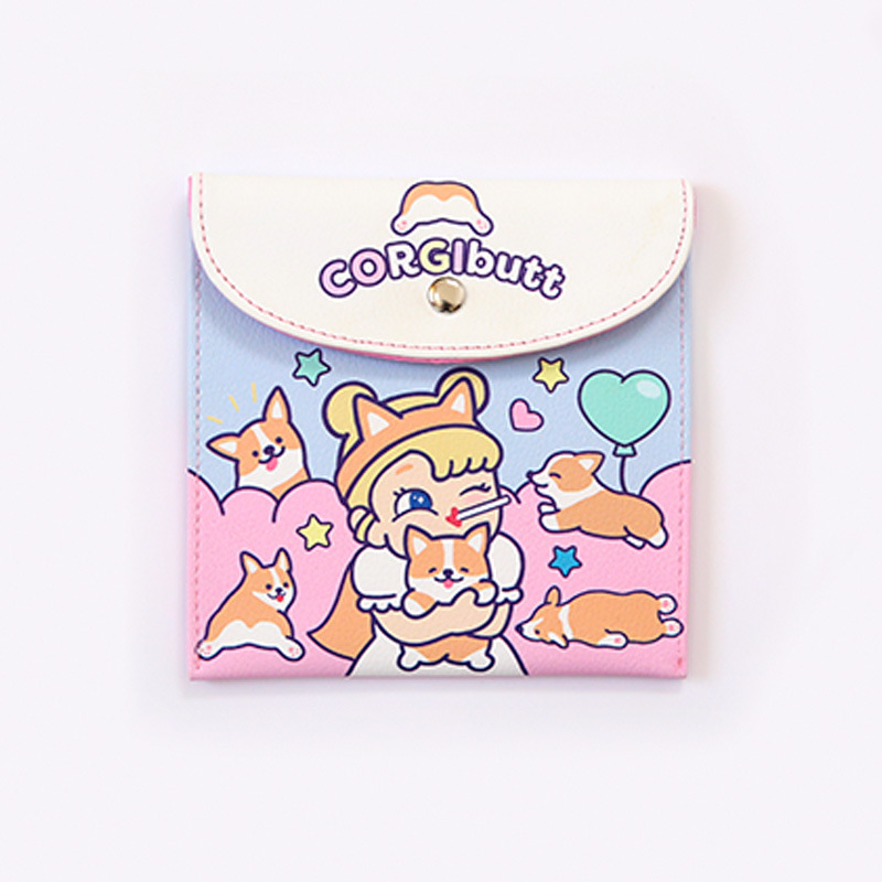 Bentoy Make Up Bag Milkjoy Girls Sanitary Bag Unicorns Rabbit Cartoon Pattern Cute Kawaii  Cosmetic Bags