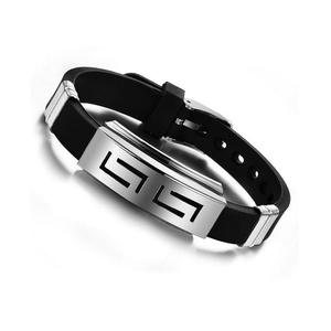 Men Bracelets Bangles Wristband Rubber Punk Stainless-Steel Silicone Pulseras Explosion-Models