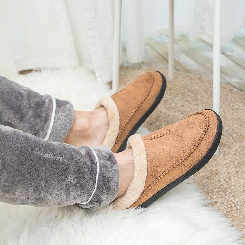 Nouveau hommes pantoufles hiver grande taille 4950 confort chaud pantoufles pour homme antidérapant court en peluche maison doux pantoufles Slip -On chaussures hommes