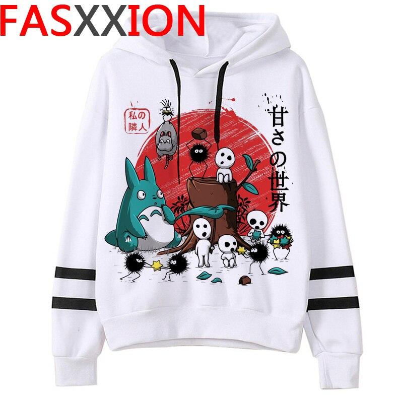 Totoro Studio Ghibli hoodies women streetwear grunge femme hoody sweatshirts hip hop streetwear 21