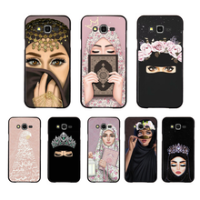 Luxury Woman Crown hijab Face Muslim Islamic beautiful Gril Eyes Phone Case For Samsung Galaxy J7 J8 J3 J4 J5 J6 Plus 2018 Prime(China)