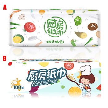 New Hot 3 Packs Strong Oil-absorbing Kitchen Tissue Wood Pulp Water Absorption Paper Towel USJ99