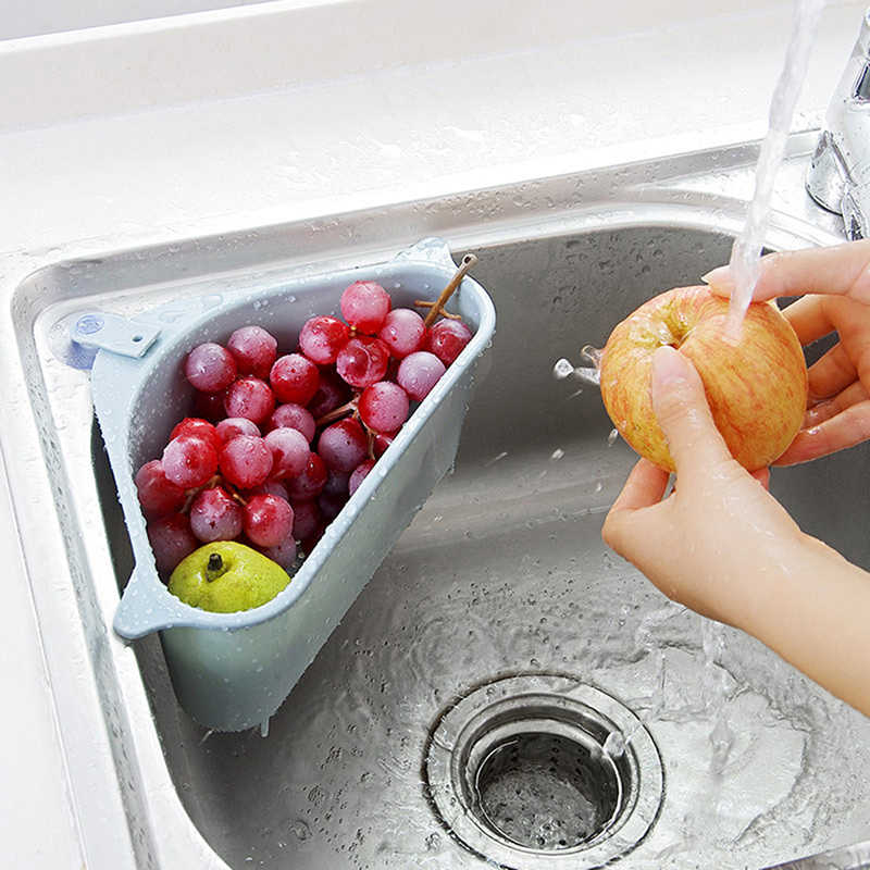 新しいキッチンオーガナイザーキッチン三角形収納ホルダー吸盤洗濯ボウルスポンジドレン棚収納スタンド皿布ホルダー